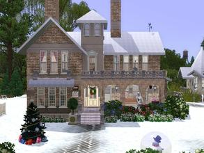 Sims 3 — FP-Statelane in the snow by francien — Beautiful old building, high hallway with staircase.