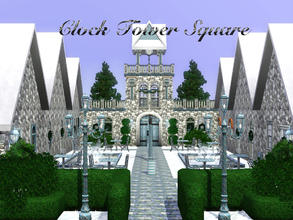 Sims 3 — Clock Tower Square by Magical Metamorphosis — Clock Tower Square - the ultimate place to meet family and friends
