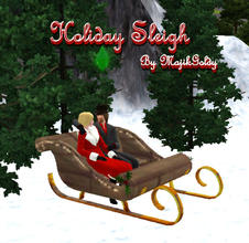 Sims 3 — MajikGoldys Holiday Sleigh Bench by MajikGoldy — MajikGoldys Holiday Sleigh Bench Come see us at Dragoncats 3D