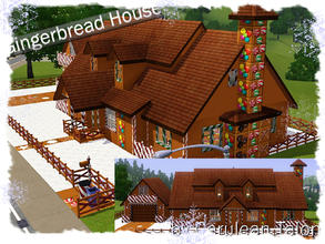 Sims 3 — Gingerbread House by Cerulean Talon — Edible house with enough calories to keep the Sim world alive for decades.
