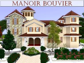 Sims 3 — Manoir Bouvier by lilliebou — Hi ! Here are some details about this house for a large family: First floor: