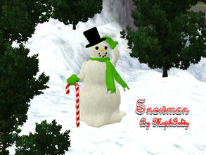 Sims 3 — MajikGoldys Snowman by MajikGoldy — MajikGoldys Snowman Greets you with a tip of his hat. Come see us at