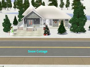 Sims 3 — Snow Cottage by DO5NBR — Cozy and pretty little cottage in a winterworld for a family with one child. It has 2