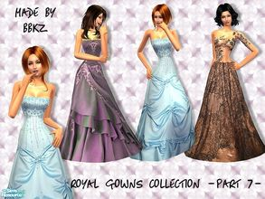 Sims 2 — Royal Gowns Collection - part 7 - by BBKZ — Available as formal for YAs/adults. No EP required. FREE mesh 067 by