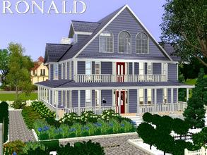 Sims 3 — Ronald by lilliebou — Hi ! Here are some details about this house: First floor: -Kitchen + Dining room -Living