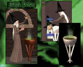 Sims 2 — Magic Poison by solfal — The poison steam can be put on or of, it also adds a little fun. No harm for the sims