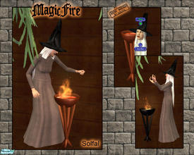 Sims 2 — Magic Fire by solfal — A magic fire that can be turned on and of by the sim. Adds a little fun.