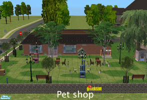 Sims 2 — Pet shop by greeksim — Community lot which can also works for community business. No custom contents.