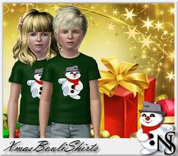 Sims 3 — Nea-XmasBouli by Nea-005 — xmas tshirt for boys and girls bouli logo