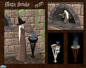 Sims 2 — Magic Smoke by solfal — The sims can turn on and of the smoke effect on this decorative object. It also adds a