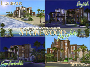 Sims 2 — Stonewood Heights Set! by Alyosha — The four lots from my Stonewood Heights series. Enjoy! All no CC included!