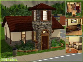 Sims 3 — Classic Italian Starter by kliekie — Small starter on a 10x10 lot: 1 bedroom and bathroom. Made by KliekieSims @