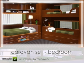 Sims 3 — Caravan Set - Bedroom by madaya74 — 5th part of my Caravan Set including: 2 double beds that can be placed on a
