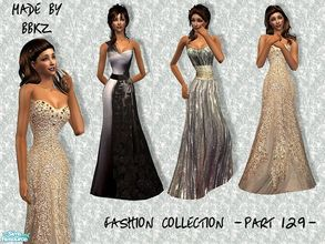 Sims 2 — Fashion Collection - part 129 - by BBKZ — Based on real gowns seen on celebrities. Available as formal for