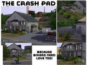 Sims 3 — The Crash Pad - 4 Bd, 3.5 Bth by Illiana — This biker pad is loaded to keep your steel horse riding cowboys