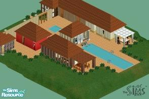 Sims 1 — On Holiday by Alimatt — Enjoy your holiday and move into this fashionable apartment hotel! With its 5 bedrooms