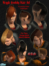 Sims 2 — Argyle Goolsby Hair Set by 71robert13 — Modeled after Argyle Goolsby\'s (from BlitzKid) hair style, This is sure