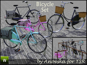 Sims 3 — Bicycle Set by AnoeskaB — Are your Sims tired of using the same bicycles all the time? Here's a brand new set of