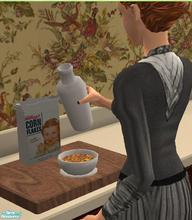 Sims 2 — Vintage Breakfast Foods - Kellogg\'s Corn Flakes by TheNinthWave — Vintage Kellogg\'s Corn Flakes from the