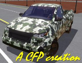 Sims 3 — Military Small Truck Camouflaged by carlosfilipepedro — Small camouflaged military truck by Carlos @ S.I.M.S.