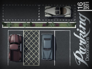 Sims 3 — Parking Decorations by AppleFall — No longer will your parking spaces have to go bland. This set of parking