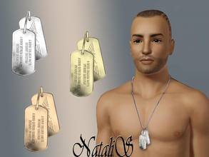 Sims 3 — NataliS military DOG TAGS by Natalis — Military DOG TAGS for YM-AM.