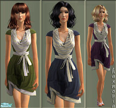 Sims 2 — Trendy Dress by Harmonia — 3 Charmig Color