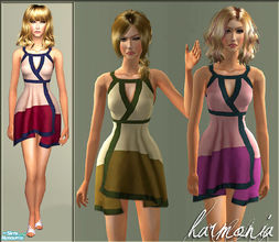 Sims 2 — Silk Handkerchief Dress by Harmonia — Don\'t forget HarmoniaMesh_Alpha002