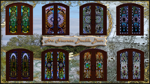Sims 3 — ART NOUVEAU DOOR by abuk0 — Bring color in your sims home with these beautiful glass doors