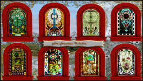 Sims 3 — ART NOUVEAU WINDOW by abuk0 — matching your doors ,colorfull glass windows , a must for your sims home