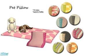Sims 2 — Pet pillow by Sophel21 — 10 recolors of steffors new pet pillow/cushion.