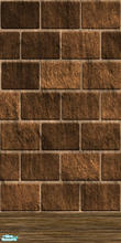 Sims 2 — Erollis - Red/Brown Brick Wall with Wood Base by fajrawr — Red/Brown Brick Wall with Wood Base