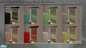 Sims 2 — Shannanigan-Matching Blind Recolours by MsBarrows — Eight recolours of the Aluminum Privacy Blind from base game