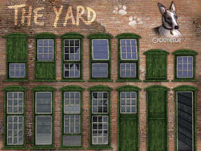 Sims 3 — Yard Windows and Doors by Cyclonesue — For rustic buildings, old barns and even Medieval properties: 25 windows