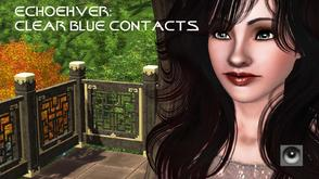 Sims 3 — Echoehver Clear Blue Contact by Echoehver — Contact lenses - brilliant, innocent blue.