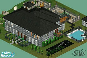 Sims 1 — The Ultimate Sugarbees Mansion by MasterCrimson_19 — On the first floor, this home has a music room, dining