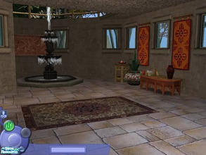 Sims 2 — Ancient Hebrew CAS Screen with animated fountain by TheNinthWave — This is a lovely new CAS screen. It\'s like