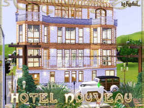 Sims 3 — Hotel Nouveau by murfeel — Spacious and elegant 2 bedroom apartment building, with 4 baths, a large EIK and