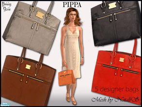 Sims 2 — Pippa by BunnyTSR — Five designer handbags inspired by the Pippa bag by Modalu. This simple, graceful style is