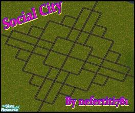 Sims 2 — Social City by nefertiti781 — This hood is my very first one, but it turned out so well i decided to share it
