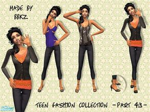 Sims 2 — Teen Fashion Collection - part 43 - by BBKZ — Based on outfits created by real designers. Available as