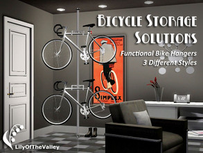 Sims 3 — Bicycle Storage Solutions by LilyOfTheValley — Nowhere to store bicycles in your tiny apartment? Looking for