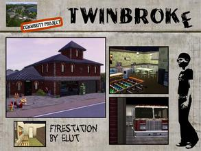 Sims 3 — Twinbroke Firestation by Elut — Twinbroke Collection. It is a fire station - your house on fire you call, they