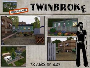 Sims 3 — Twinbroke Trailers by Elut — Twinbroke Collection. If home is just where you place your bed, you can place it