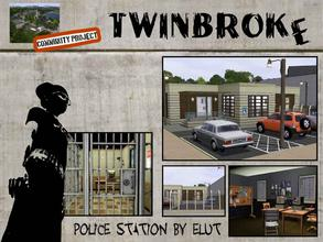 Sims 3 — Twinbroke Police Station by Elut — Twinbroke Collection. Who says that crime does not pay. Welll here it do not