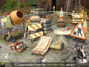 Sims 3 — Under Construction! by Cyclonesue — Now you need never finish building a lot ever again! Just fill the yard with