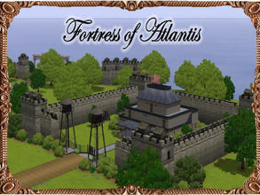 Sims 3 — Fortress of Atlantis by JCIssette — Sims can rest easy with this fordible fortress guarding the canal gates.