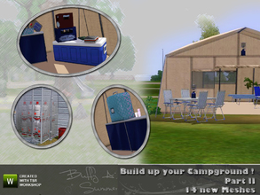 Sims 3 — Build up your Campground ! (Part II) by BuffSumm — Second part to build up you own Campground :) This set