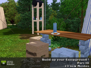 Sims 3 — Build up your Campground ! (Part III) by BuffSumm — The third part for the Campground :) The set contains some
