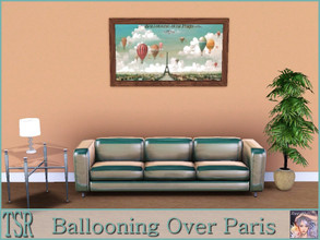 Sims 3 — Ballooning Over Paris by ziggy28 — Ballooning Over Paris by Isiah and Benjamin Lane c.1890. Recolourable frame.